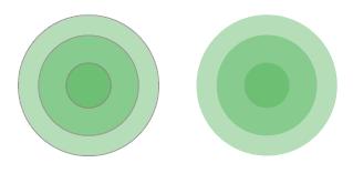circles by shade