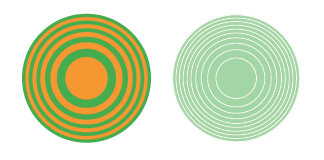 concentric circles variations
